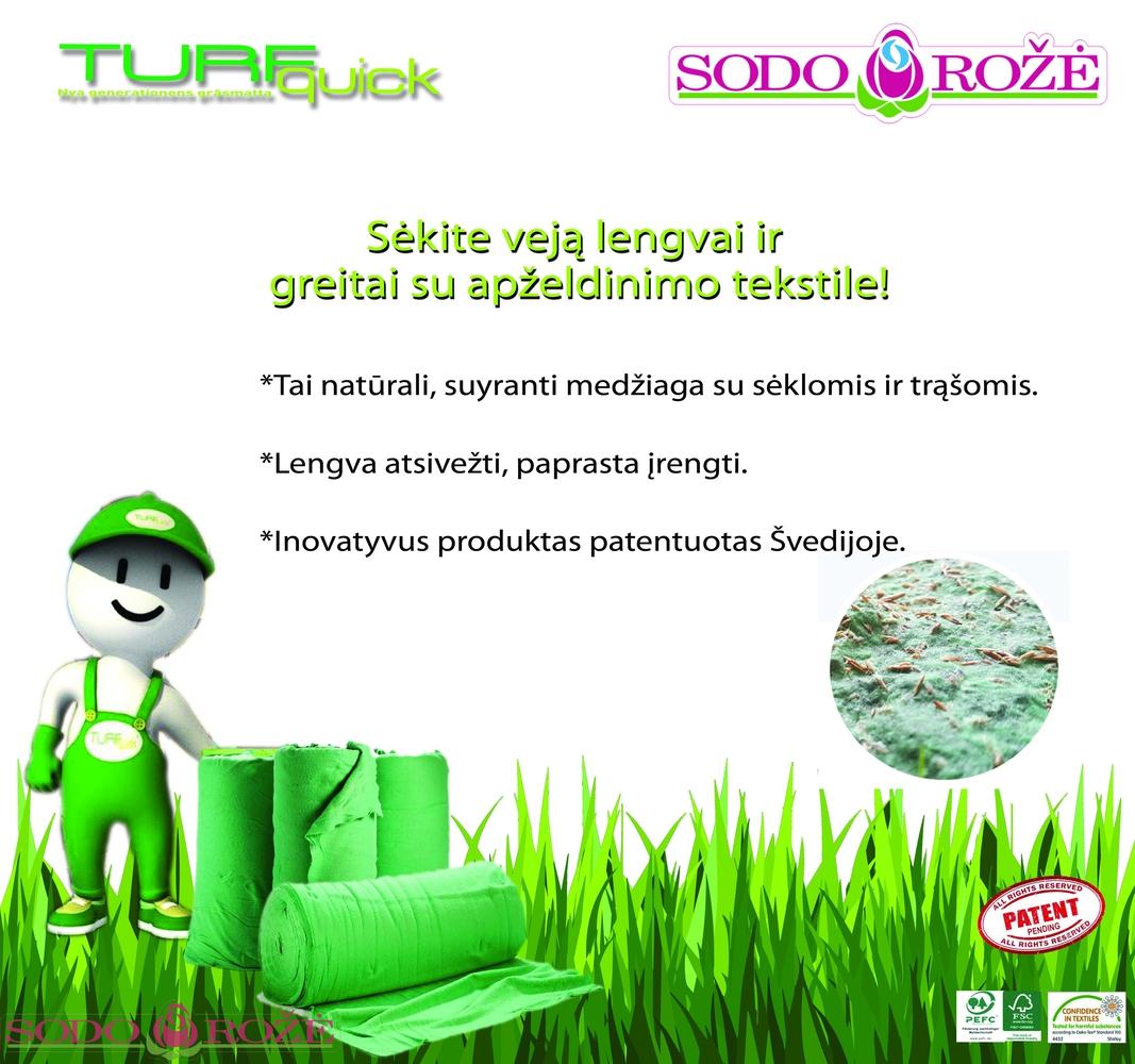 Naujiena! TURFquick® apželdinimp tekstilė
