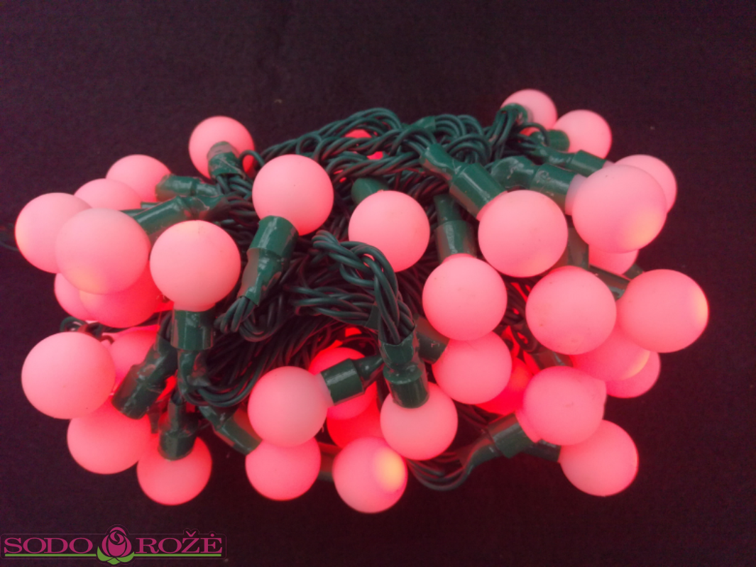 LED bumbuliukų girlianda RGB su pulteliu (10m)