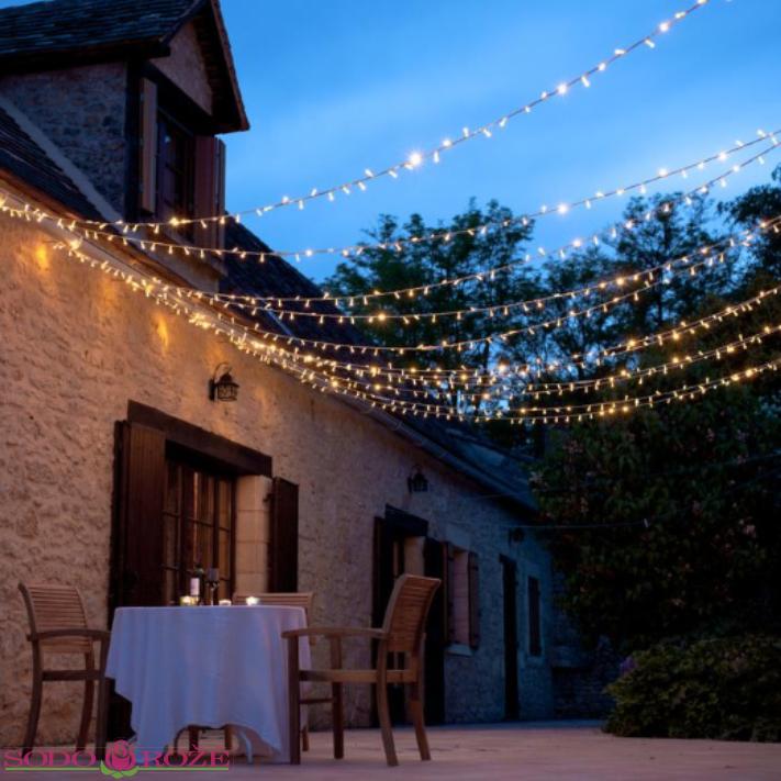 Profesionali LED lempučių girlianda 10m (5+5)