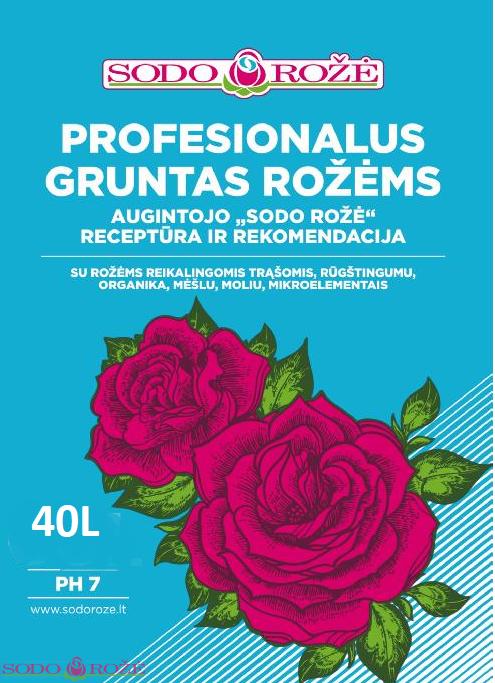 Profesionalus gruntas rožėms 40L