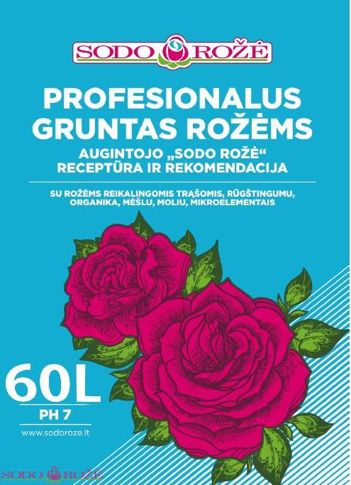 Profesionalus gruntas rožėms 60L