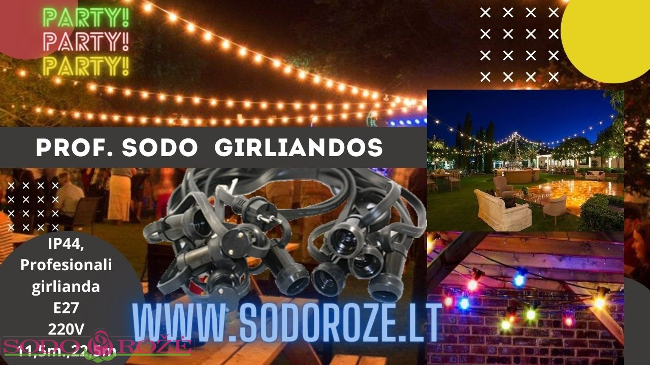 Sodo girlianda 21,5m. 20-E27