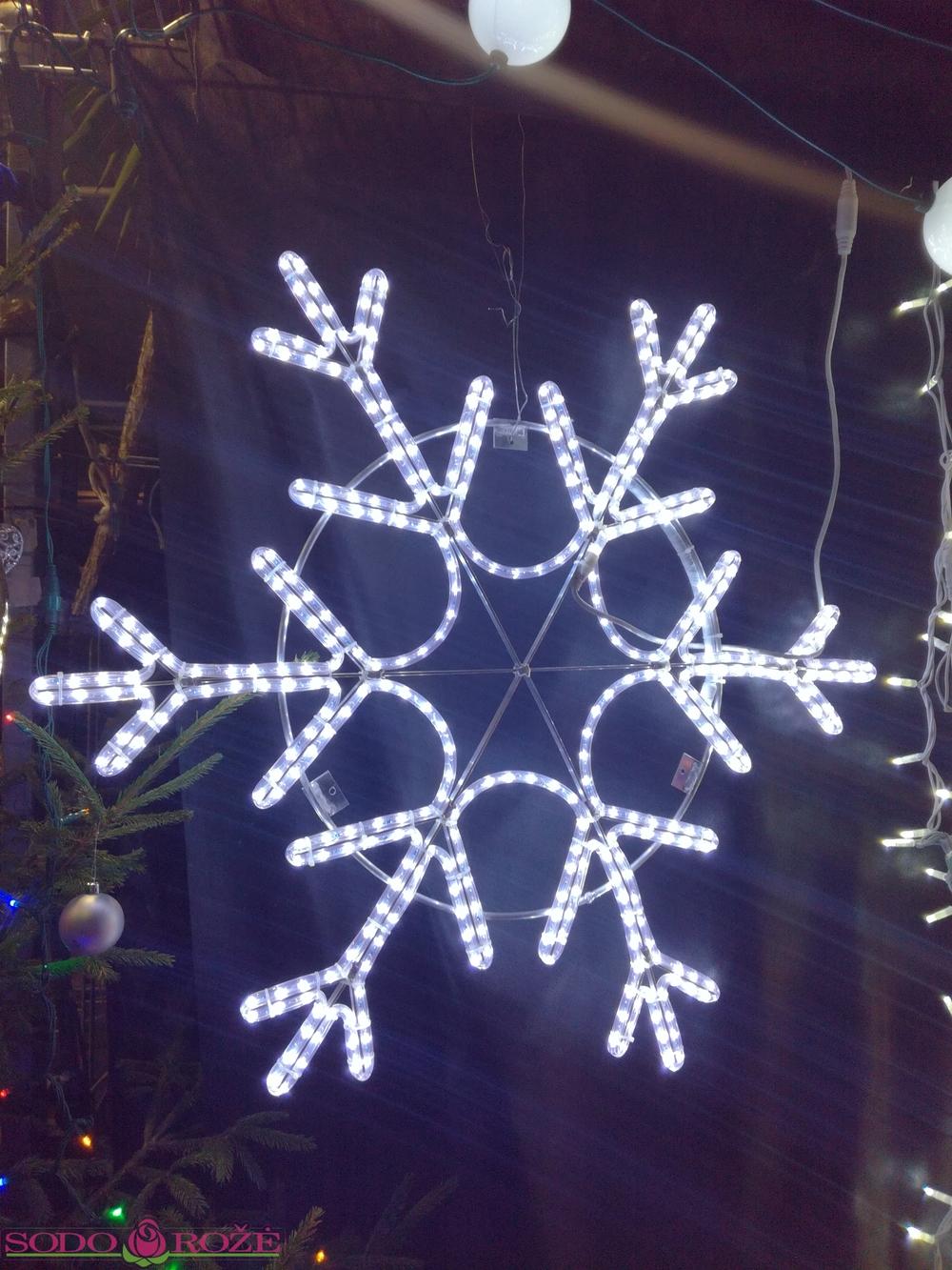 Šviečianti LED snaigė ø 100cm